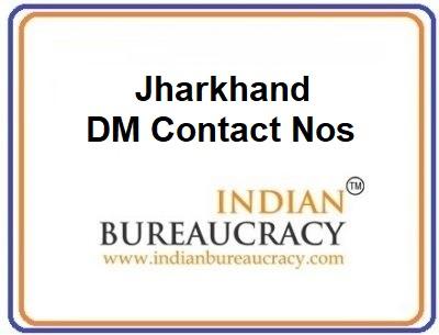Jharkhand DM Contact Nos