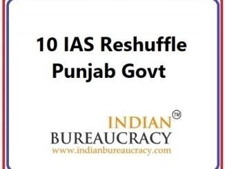 10 IAS Transfer in Punjab Govt