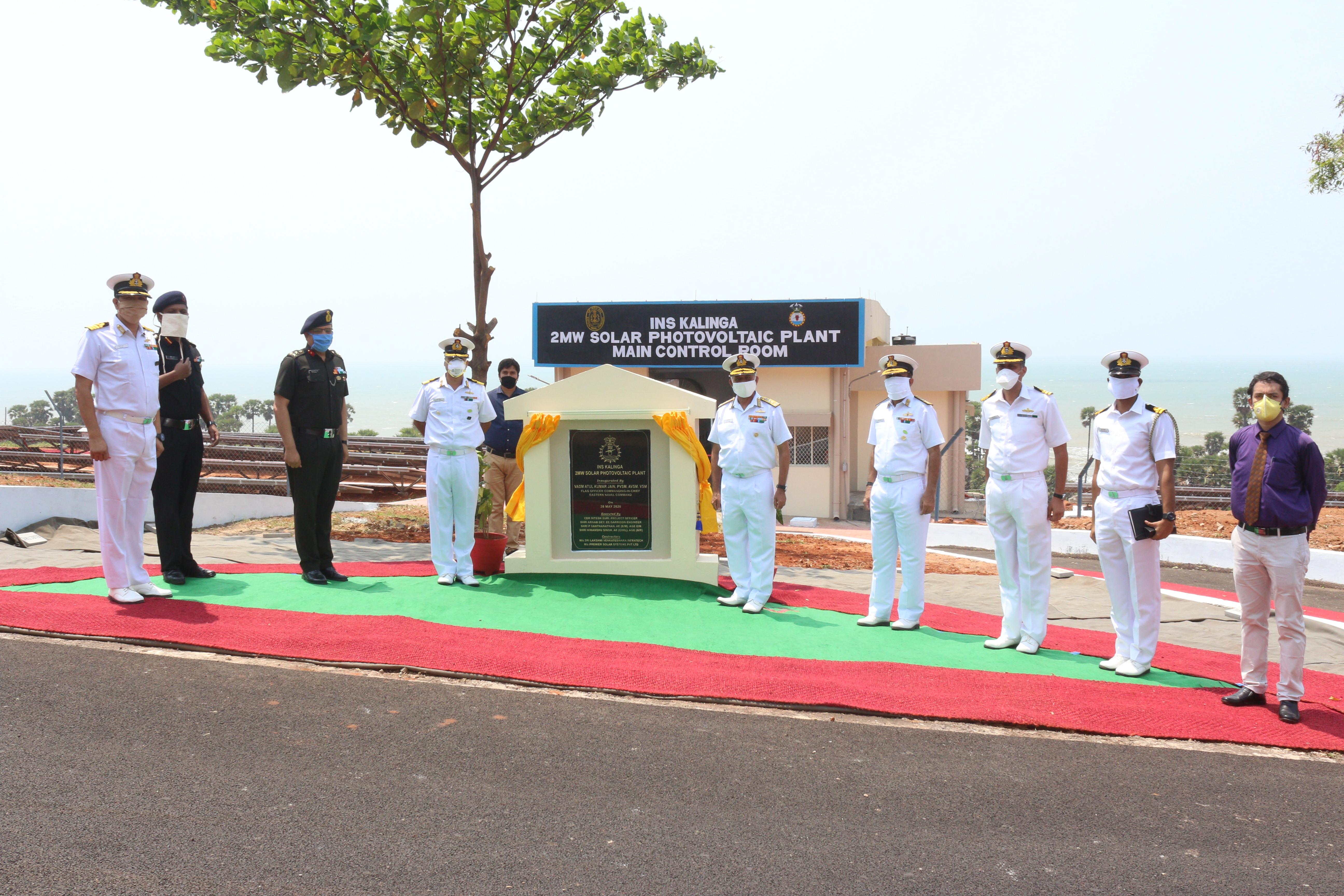 2 MW Solar Power Plant inaugurated at INS Kalinga