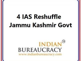 4 IAS Transfer J&K Govt