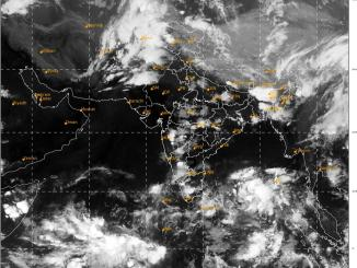 Formation of a Low Pressure area over southeast Bay of Bengal