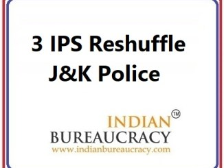 3 IPS Transfer in J&K Police
