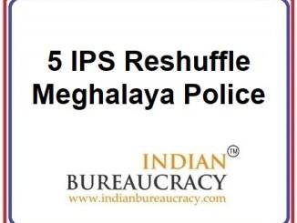 5 IPS Transfer in Meghalaya Police