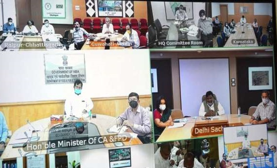 Ram Vilas Paswan holds video conference with Food Ministers of States and UTs to discuss