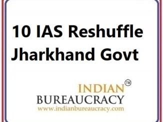 10 IAS Transfer in Jharkhand Govt