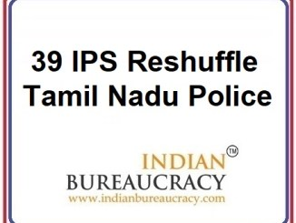 39 IPS Transfer in Tamil Nadu Police