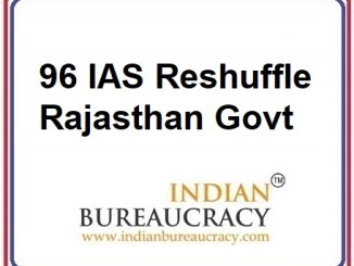 96 IAS Transfer in Rajasthan Govt