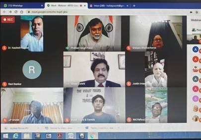 Prahlad Singh Patel addresses webinar on Cross Border Tourism