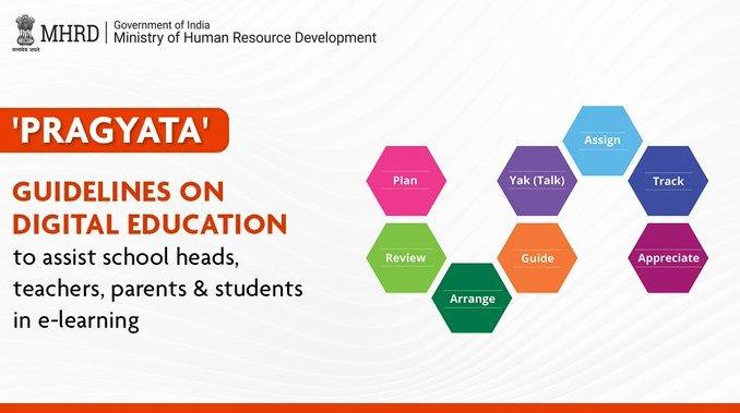 Union HRD Minister virtually releases PRAGYATA Guidelines on Digital Education