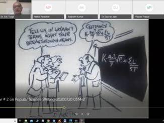 Webinar on Popular Science Writing reaches across India