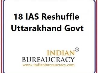 18 IAS Transfer in Uttarakhand Govt