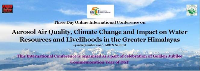 ARIES, Nainital to organise online International Conference on 'Aerosol Air Quality