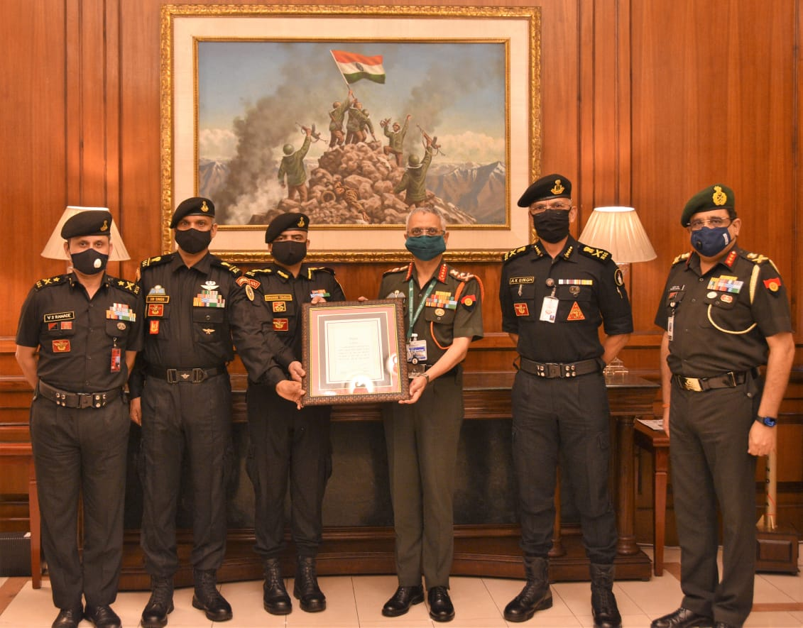 COAS Unit Appreciation to 51 Special Action Group of NSG