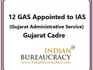 12 GAS promoted to IAS, Gujarat