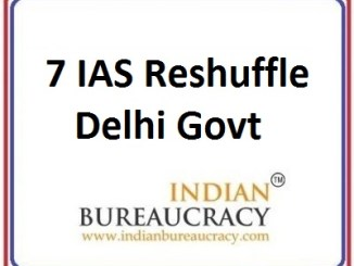7 IAS Delhi Govt