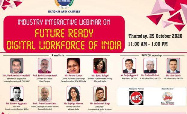Webinar on Future Ready Digital Workforce of India