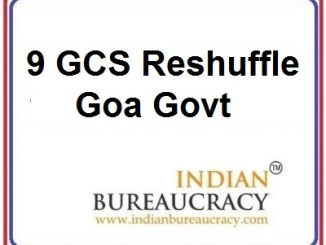 9 GCS Transfer in Goa Govt