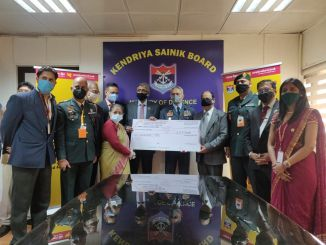 CGM, Vivek Jha presented donation cheque