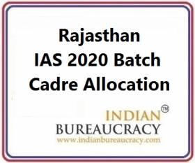 Rajasthan IAS 2020 Batch