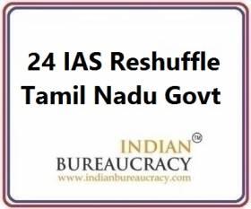 24 IAS Transfer in Tamil Nadu Govt