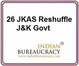26 JKAS transfer in J&K Govt
