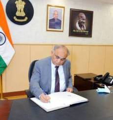 Anup Chandra Pandey takes charge as Election Commissioner