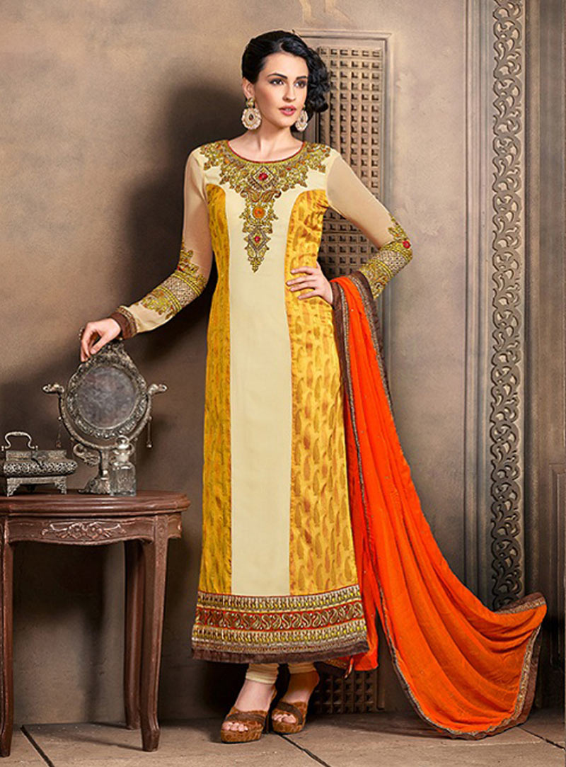 ea6d8e440e Splendorous Pale Yellow Salwar Kameez - Inspirational Interior style ...
