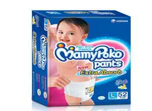 Mamy Poko Pant Large Size extra absorb diapers At Rs.489