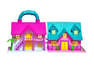 Sunshine Mini Foldable Twin-sided Doll House with Toy Accessories