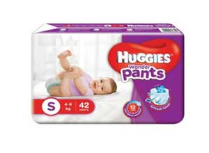 Huggies Wonder Pants Small Size Diapers 42 Count