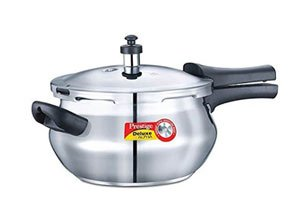 Prestige Deluxe Alpha Outer Lid Stainless Steel Pressure Cooker
