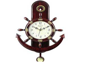 Plaza Brown Anchor Pendulum Wall Clock