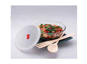 Borosil Mixing Bowl with Plastic Lid