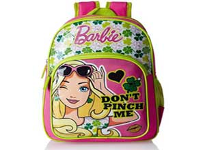 Barbie Pink and Green Childrens Backpack