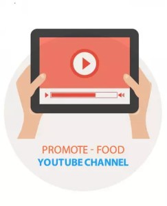 Promote Youtube Food Blog Channel