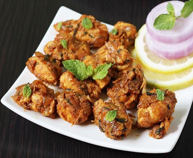 Chicken roast recipe | South Indian dry chicken recipes