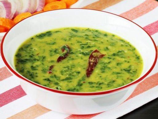Dal palak recipe | Spinach dal | How to make dal palak - Swasthi's Recipes