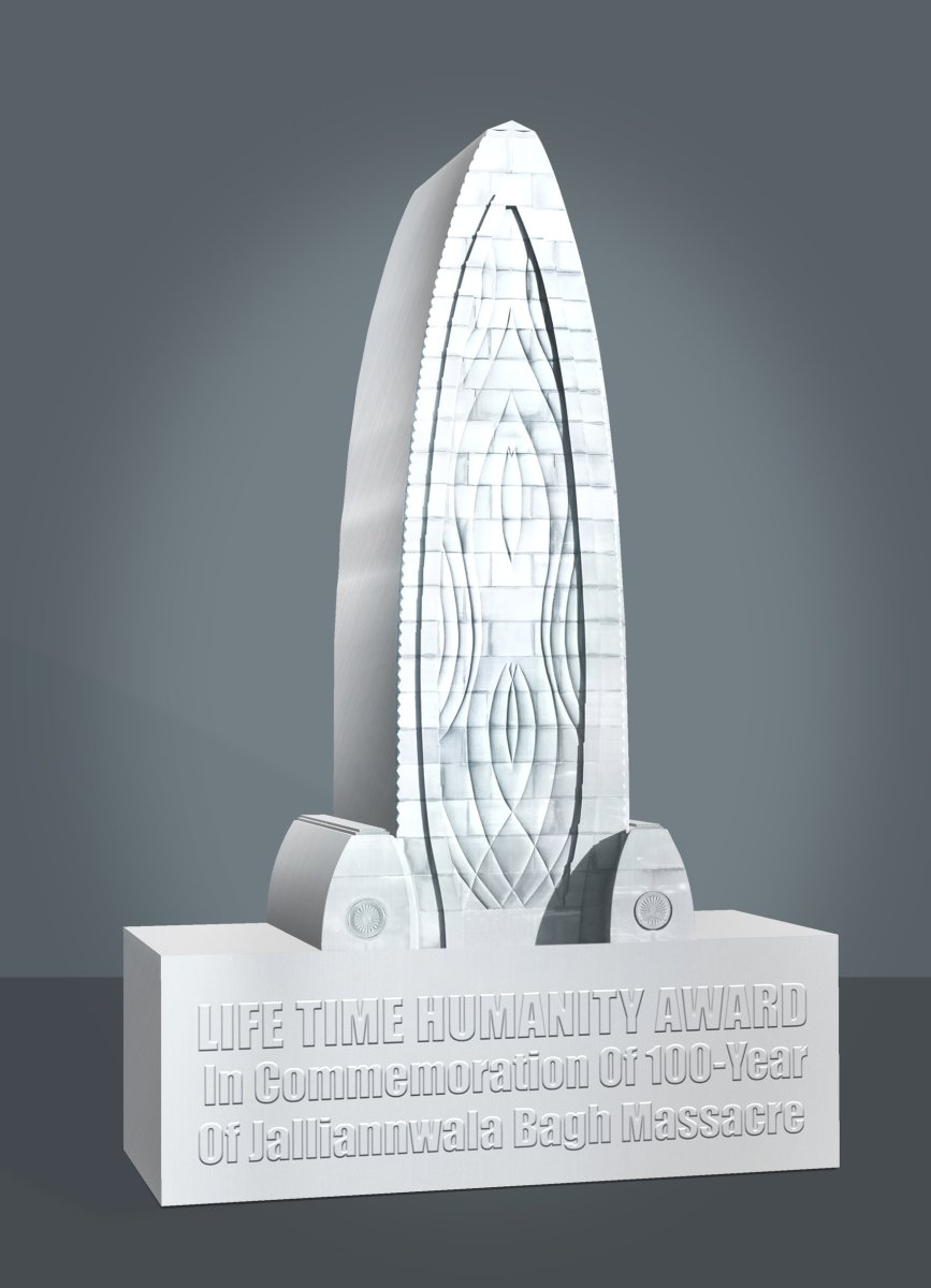 LIFE-TIME HUMANITY AWARD in commemoration of 100-year of historical JALLIANWALA BAGH MASSACRE