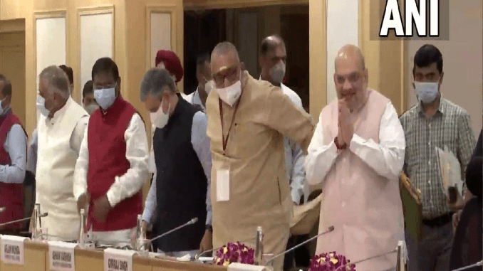 Naxal Issue Meeting: Brainstorming in Delhi regarding a tough attack on Naxalites, Union Home Minister Amit Shah along with CM Nitish and Hemant also attended the meeting