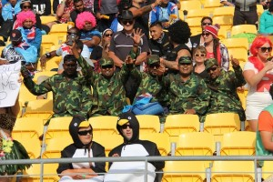 Fiji fails to impress-Fijian supporters dressed up for the occasion Web
