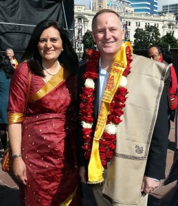 15.10.2016 Prime Minister John Key at the Auckland Diwali Festival. Mandatory Photo Credit ©Michael Bradley.