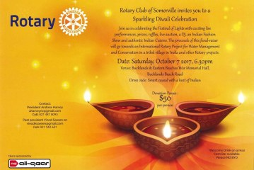Somerville Rotary plans Diwali with colours and goodwill
