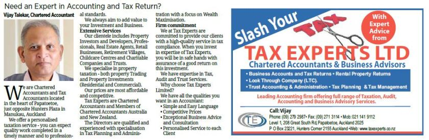 Need an Expert in Accounting and Tax Return?