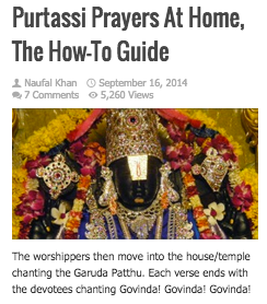 Purtassi Prayers At Home, The How-To Guide