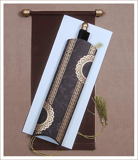 123 scroll wedding cards, scroll wedding invitations