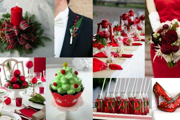 Christmas Themed Wedding