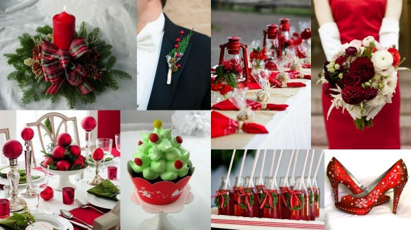 Christmas Inspired Red Green Theme Wedding Wedding Invitations IndianWeddingCards