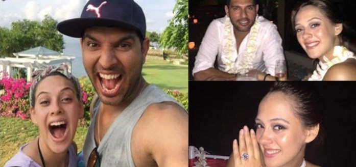 Yuvraj Singh and Hazel Keech - IndianWeddingCards
