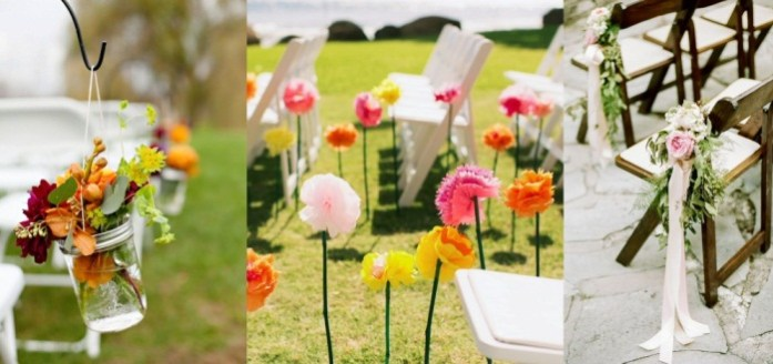 Floral Wedding Aisle Chairs - IndianWeddingCards
