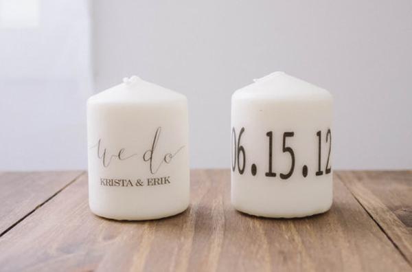 Printed candles - IndianWeddingCards